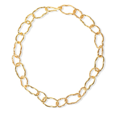 GOLD SHORT CHAINLINK NECKLACE