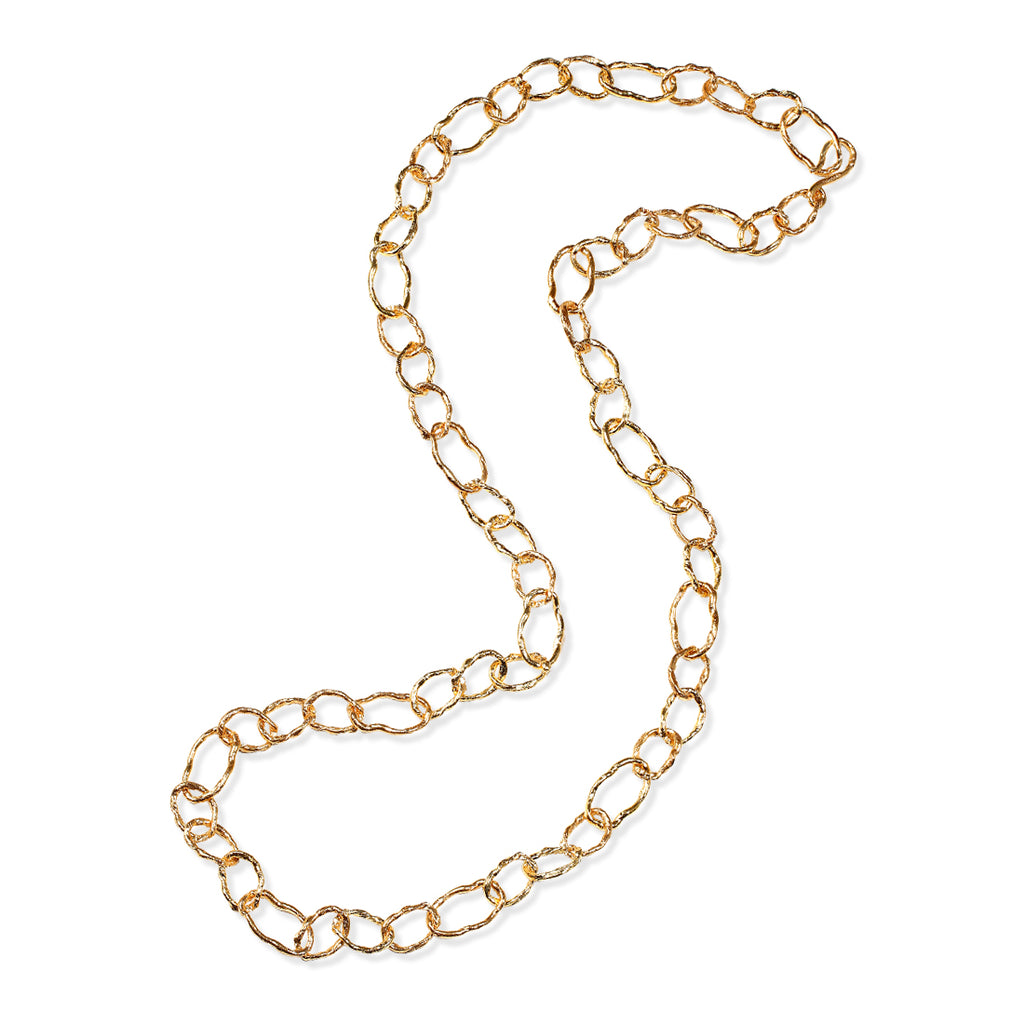 GOLD CHAINLINK LONG NECKLACE