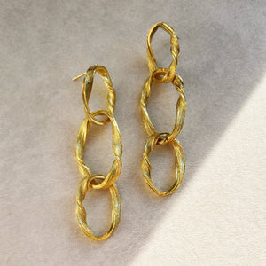 GOLD CHAINLINK EARRINGS