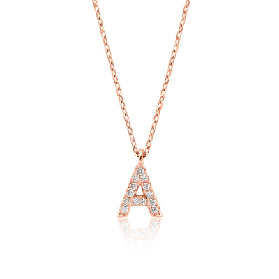 "INITIAL NECKLACE ""A"""