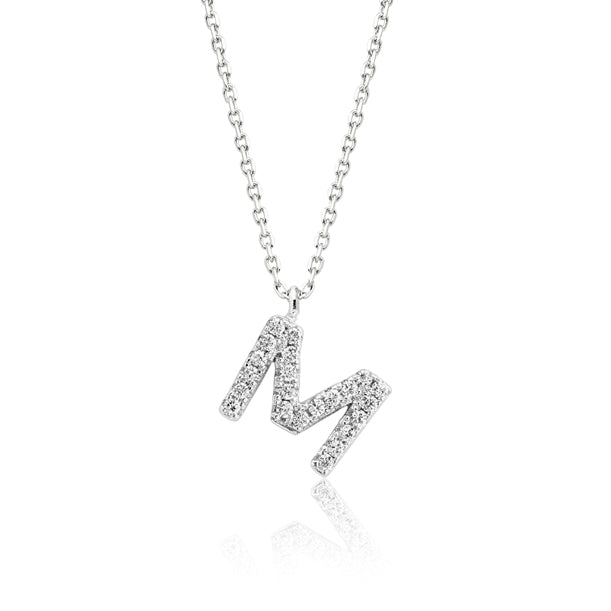 "INITIAL NECKLACE ""M"""