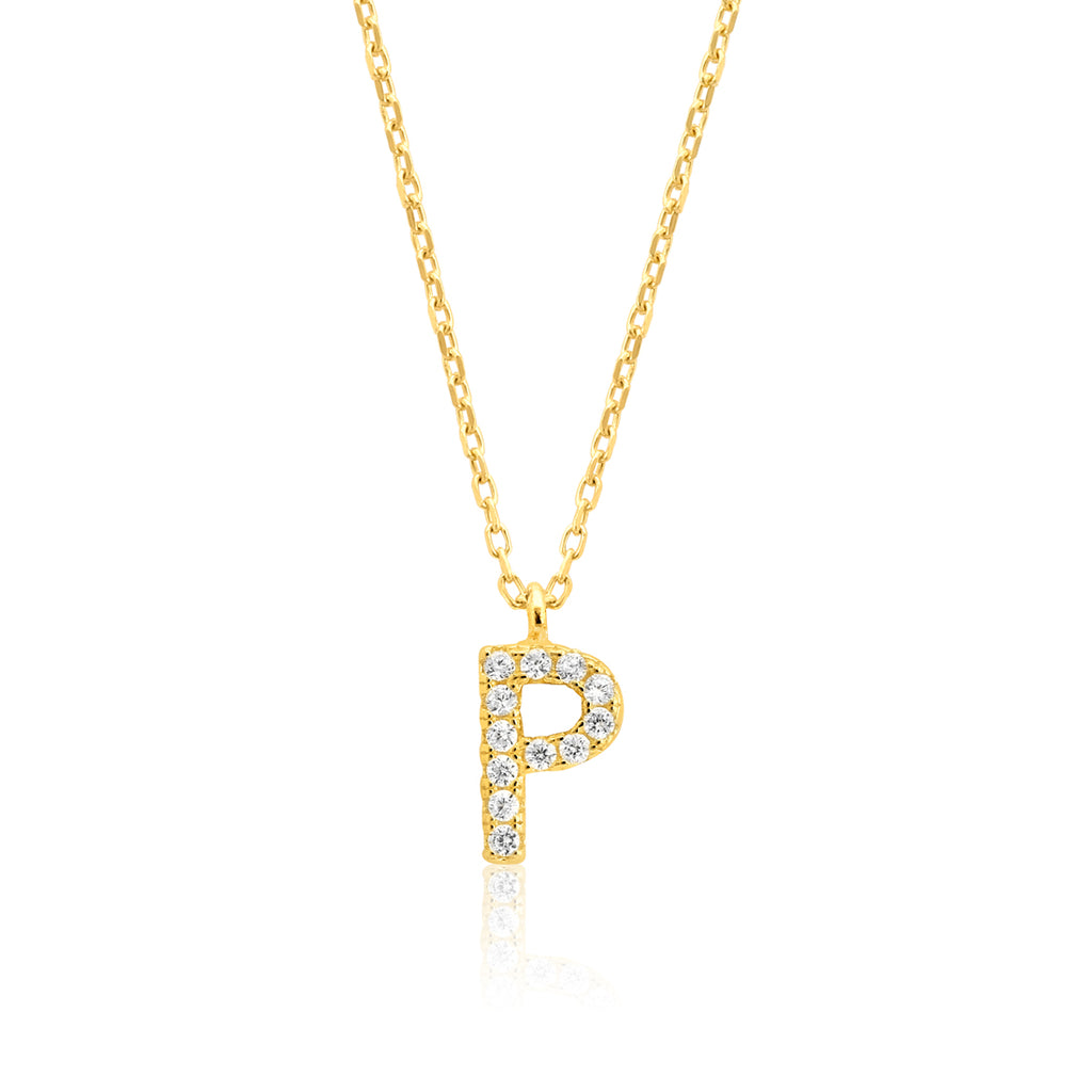 "INITIAL NECKLACE ""P"""