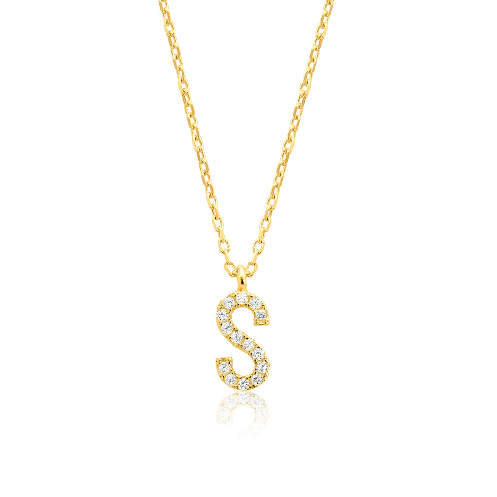 "INITIAL NECKLACE ""S"""