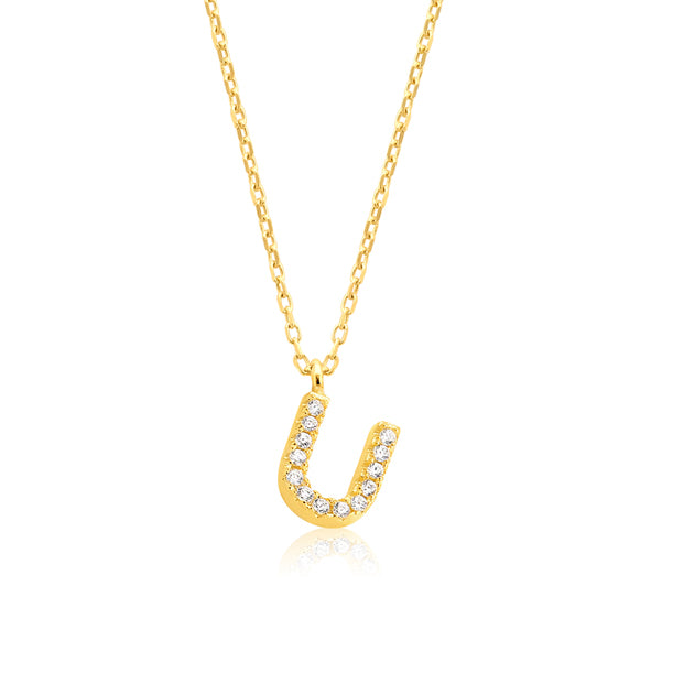 "INITIAL NECKLACE ""U"""
