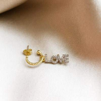 LOVE EARRINGS (SINGLE)