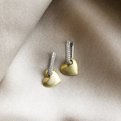 MATTE HEART DROP EARRINGS