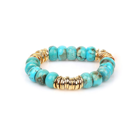 TURQUOISE | GOLD DISC