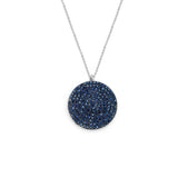 Pave Coin Pendant Necklace