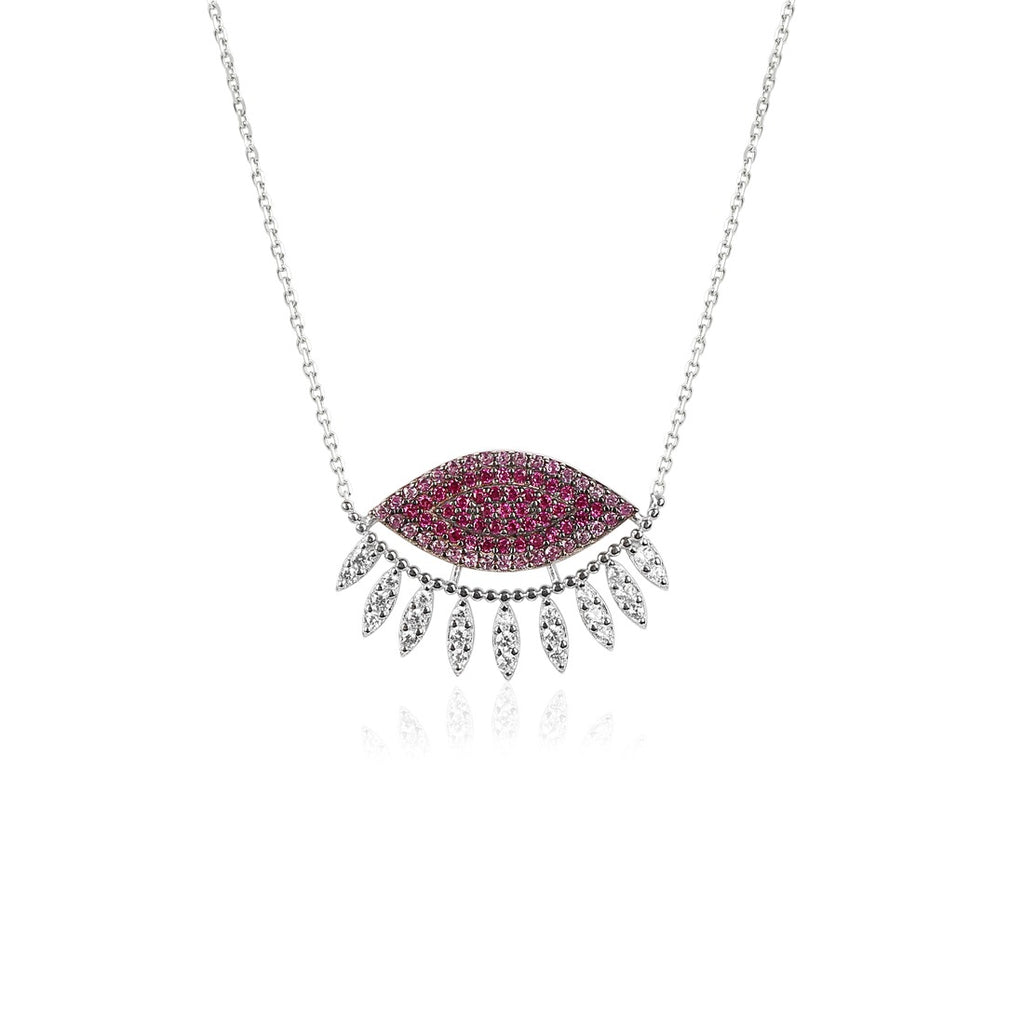 PINK EYE NECKLACE