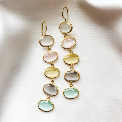 5-Drop Pastel Earrings