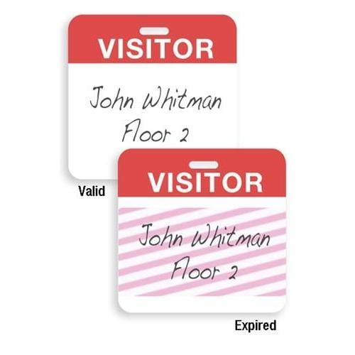 Self Expiring Visitor Temp Badges (P/N 02014)