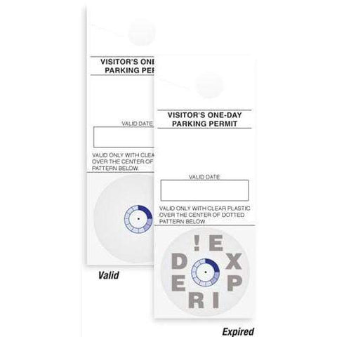 """VISITOR"" One Day Self-Expiring TIMEbadge - Frontpart, Box of 1008 (P/N 08146)"