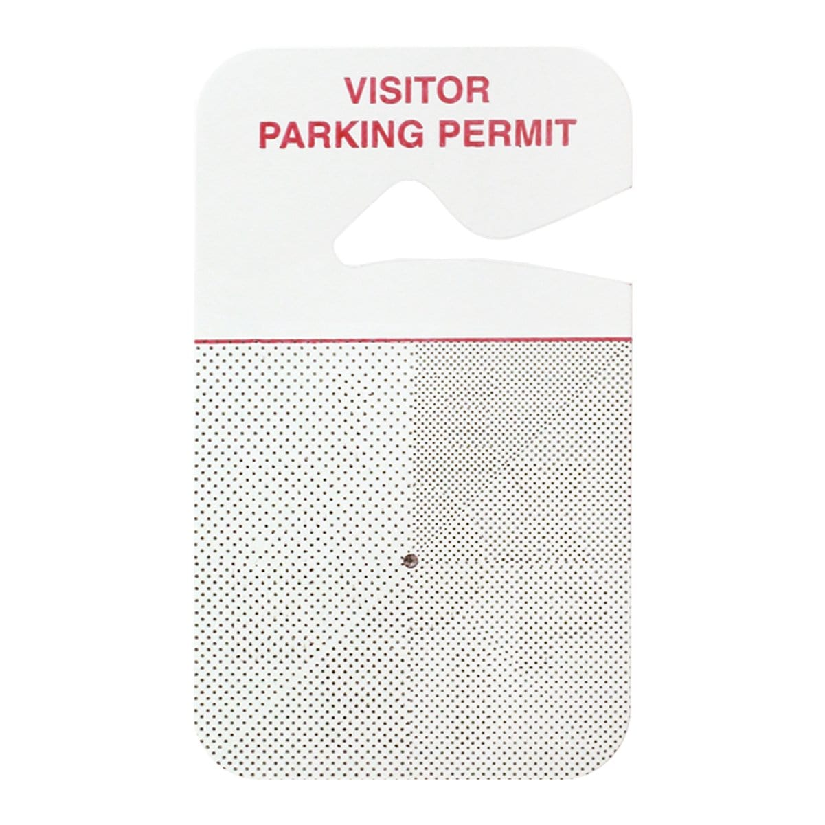 "Temporary Expiring Hangtag ""VISITOR PARKING PERMIT"", Box of 500 (P/N 05139)"