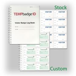 Non-Expiring Visitor Badge and Log Book - 500 Badges (05751)