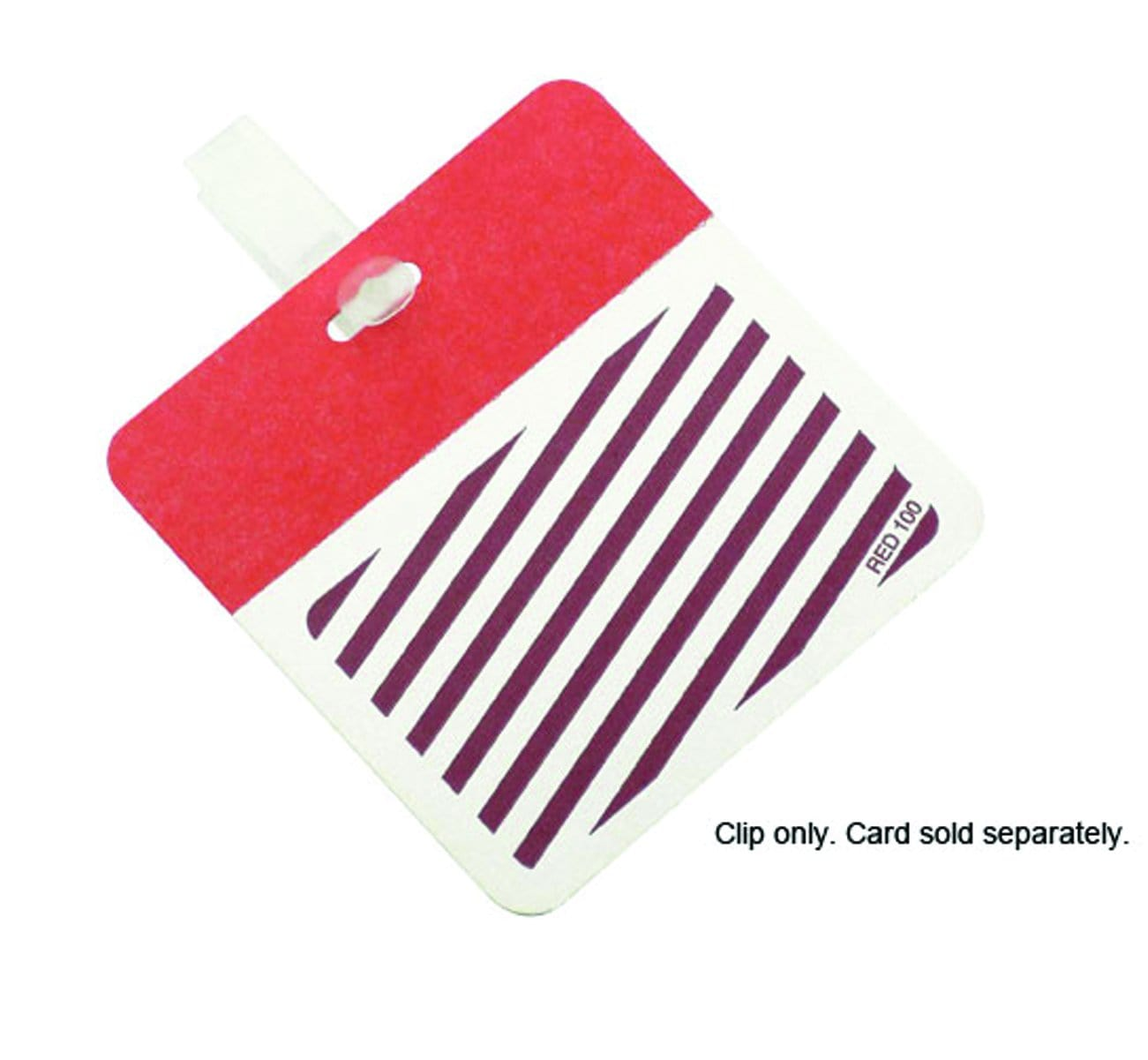 Reusable Plastic Cardclip - Badge Clip (Bag of 500 Clips) P/N 08075
