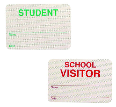 School Hall Pass Lanyards WITH UNBREAKABLE CARD PASSES - 6 Pack Set (SPID-9800)