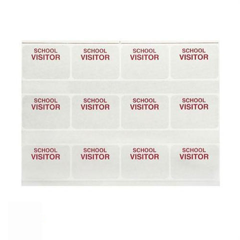 Temporary Visitor Badges - Printable Business Solution Kit