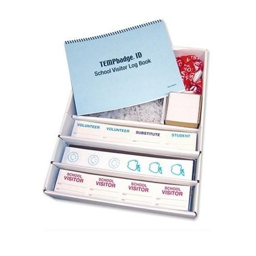 Temporary Visitor Badges - Complete Manual School Solution Kit