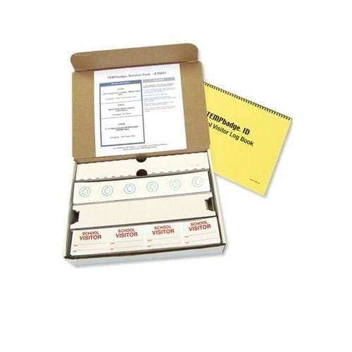 Temporary Visitor Badges - Manual School Solution Kit