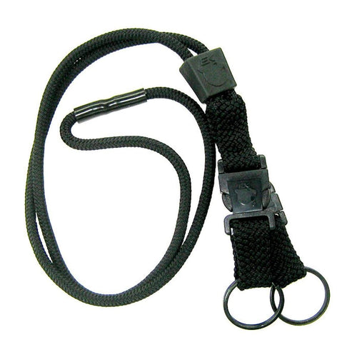 EK Black Lanyard With Two Detachable Key Rings (10046) by EK USA