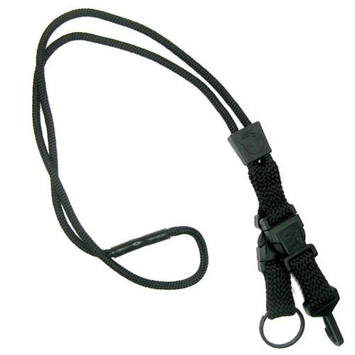 Black EK Breakaway Lanyard with Detachable ID Hook And Key Ring (10230) by EK USA