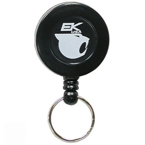 Black Deluxe Retract-A-Cat with Key Ring & Belt Clip (10463) by EK USA