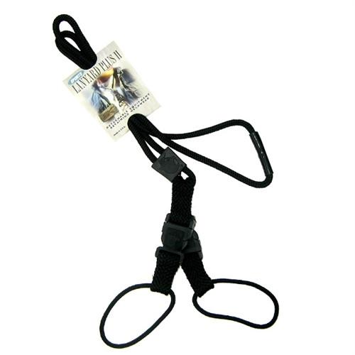 Black EK Lanyard Plus II with Two Detachable Soft End Loops (10760) by EK USA