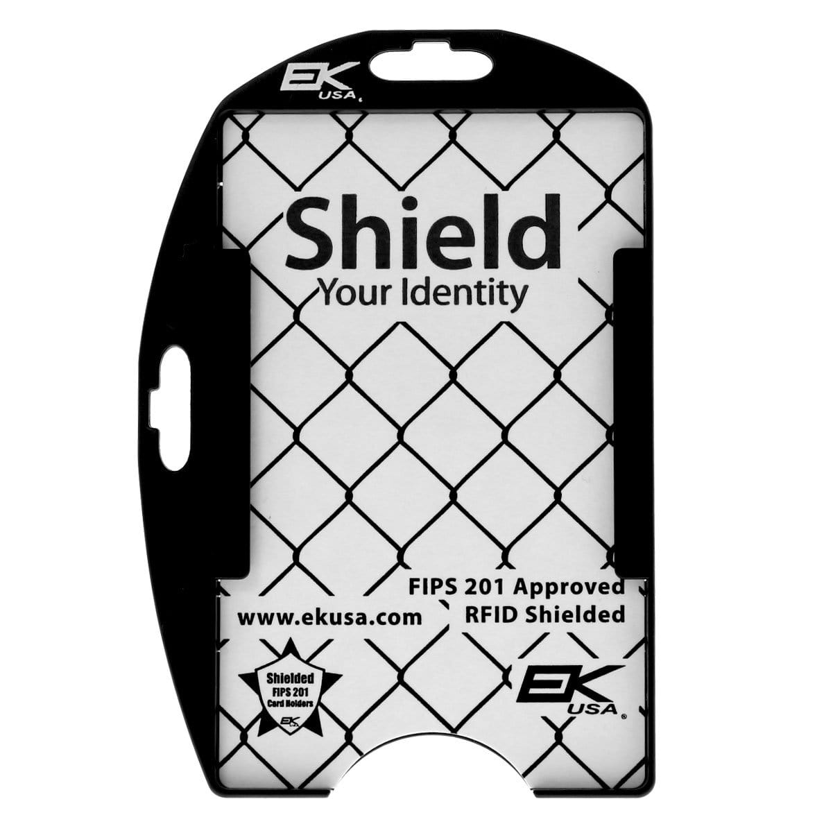 Black EK Patriot Shielded RFID Blocking Two Card ID Badge Holder (10916) by EK USA