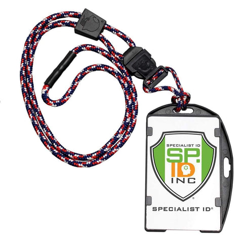 Black EK Guardian ID Badge Holder with Detachable Lanyard (10935) by EK USA