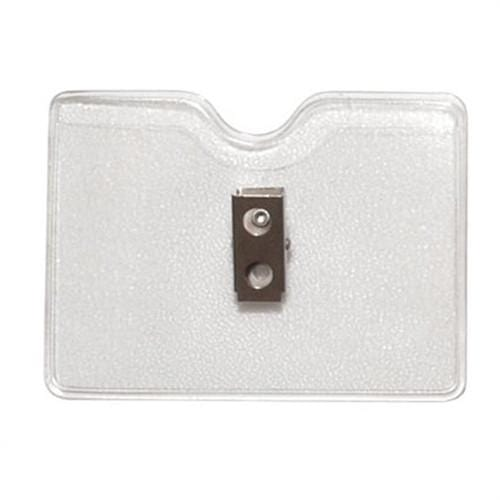 Horizontal Textured Vinyl Badge Holder with Clip (P/N 1810-1000)
