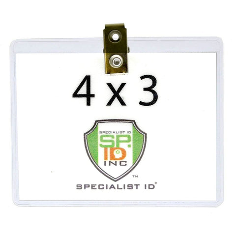 Clear 6 X 4 Vinyl Horizontal Large Event Badge Holders (1840-1615)