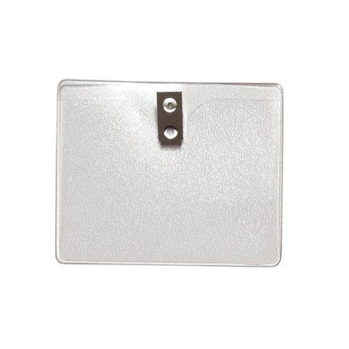 4 x 3 Inch Clear Vinyl Horizontal Badge Holder with Clip (1810-1300)