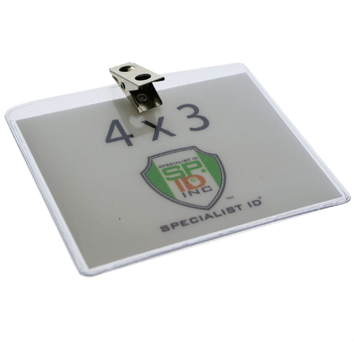 Clear Vinyl Horizontal Badge Holder With 2-Hole Clip (P/N 1810-1300)