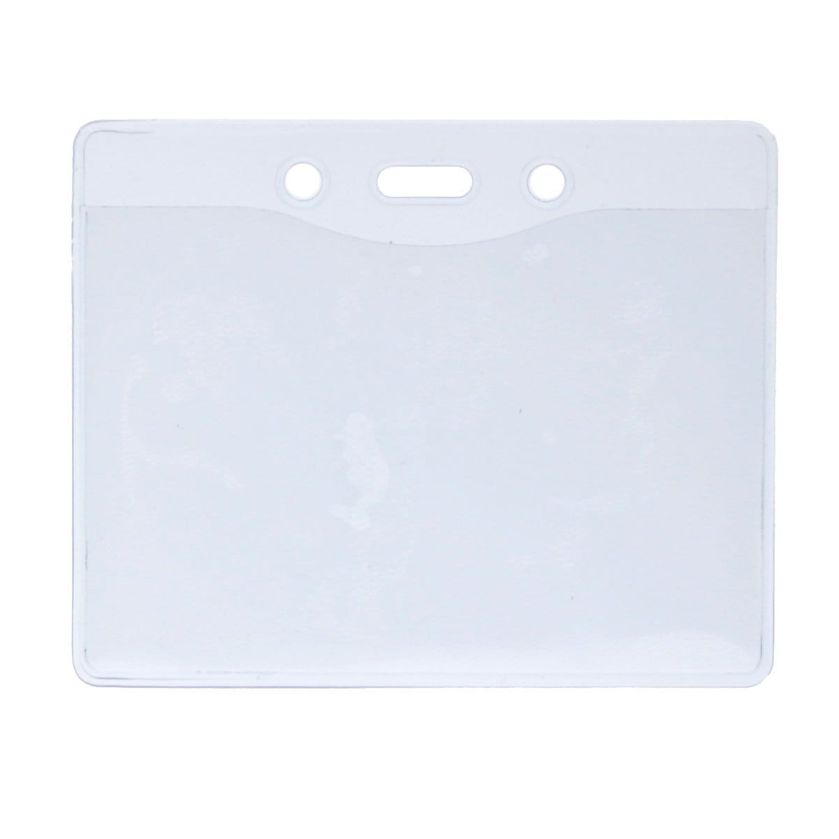 Clear Vinyl Horizontal Military Card Size Badge Holder (P/N 1815-1200)