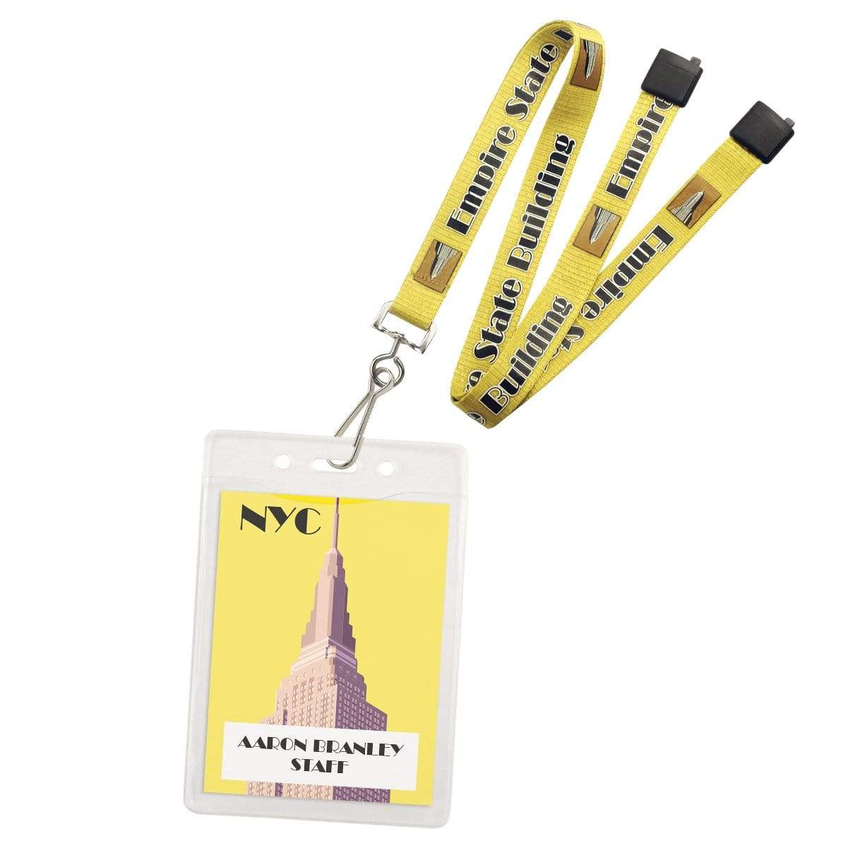 Clear 3x4 Vertical Convention Name Badge Holder (P/N 1815-1450)