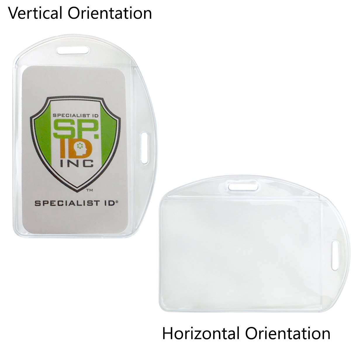 Vertical / Horizontal Durable Clear Vinyl ID Badge Holders (1815-1600)