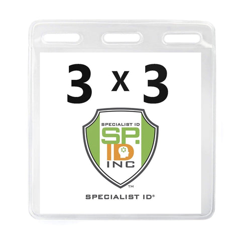 3 3/8 X 6 1/4 Clear Vertical Large Event Badge Holder (P/N 306-357)