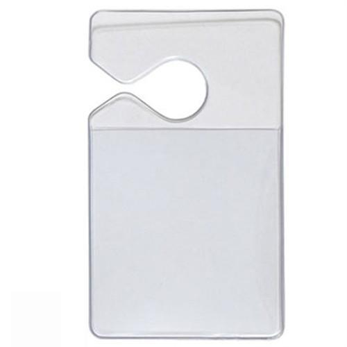 Clear Rigid Vinyl Vertical Vehicle Parking Pass Hang Tag Holder (1840-3600)