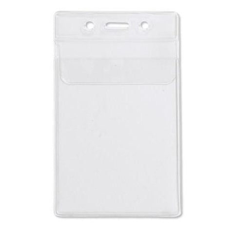 "3 3/8"" X 6 1/4"" Clear Vertical Large Event Badge Holder (P/N 306-357)"