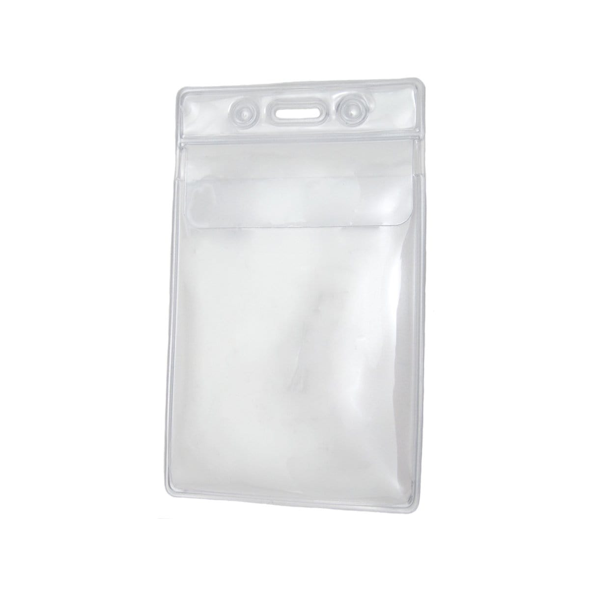 "Clear 2 7/8"" X 4 1/4"" Vinyl Vertical Large Badge Holder With Tuck-In Flap (P/N 1840-5150)"
