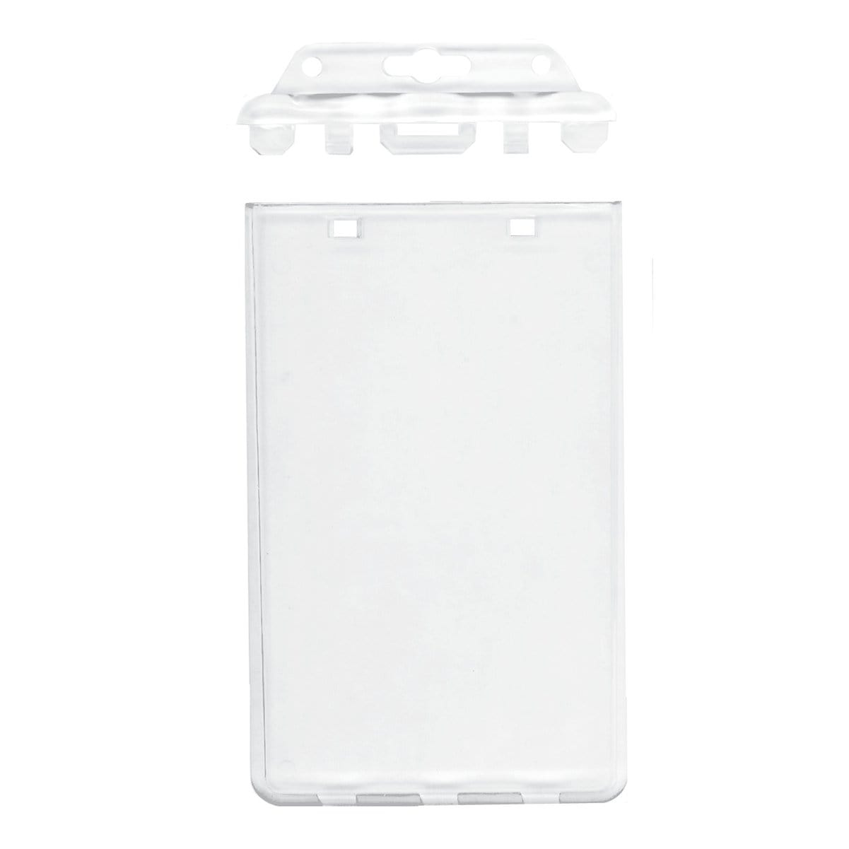 Clear Vertical Permanent Locking Plastic Card Holder (P/N 1840-6045)