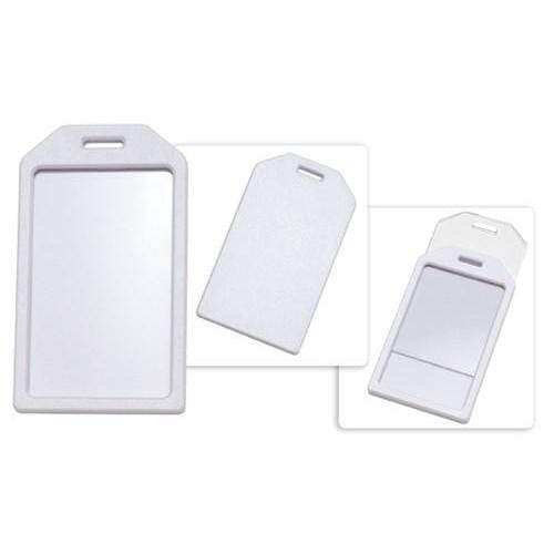 Buy Online Cheap, White Rigid Plastic Luggage Tag Holder 1840-6208