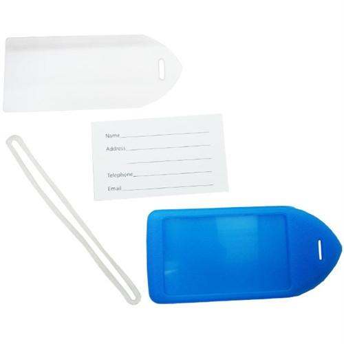 Buy Online Cheap, Neon Blue Rigid Plastic Luggage Tag Holder 1840-6211