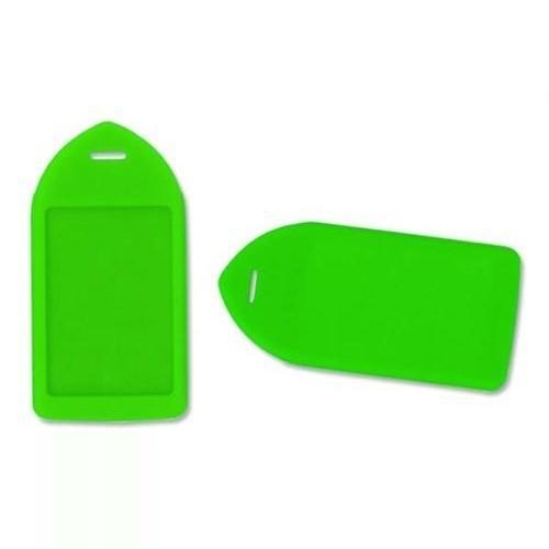 Order Online, Neon Green Rigid Plastic Luggage Tag Holder (P/N 1840-6212)