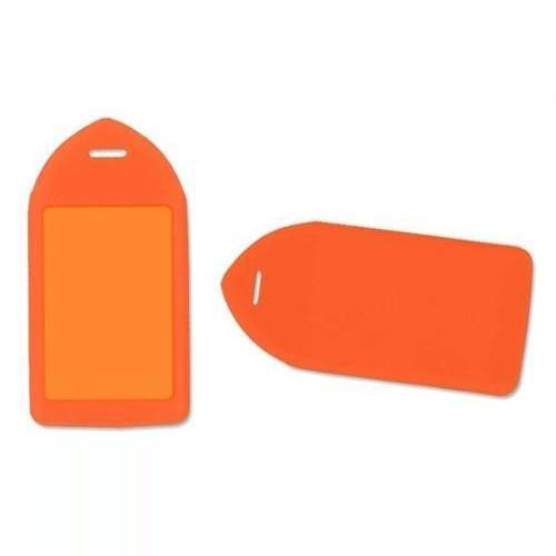 Buy Online Cheap, Neon Orange Rigid Plastic Luggage Tag Holder (P/N 1840-6214)