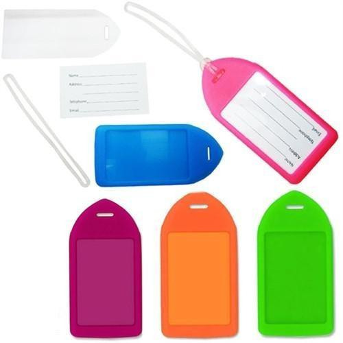 Order Online, Neon Rigid Plastic Luggage Tag Holder and Loop 1840-6210,1840-6211,1840-6212,1840-6213,1840-6214