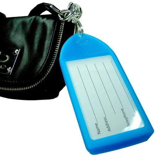 Neon Rigid Plastic Luggage Tag Holder and Loop 1840-621X