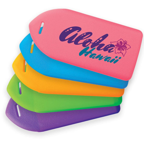 Customize Your Neon Rigid Plastic Luggage Tag Holder