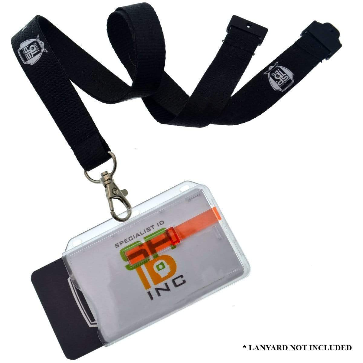 2 Card Badge Holder with Slide (P/N 1840-6400)