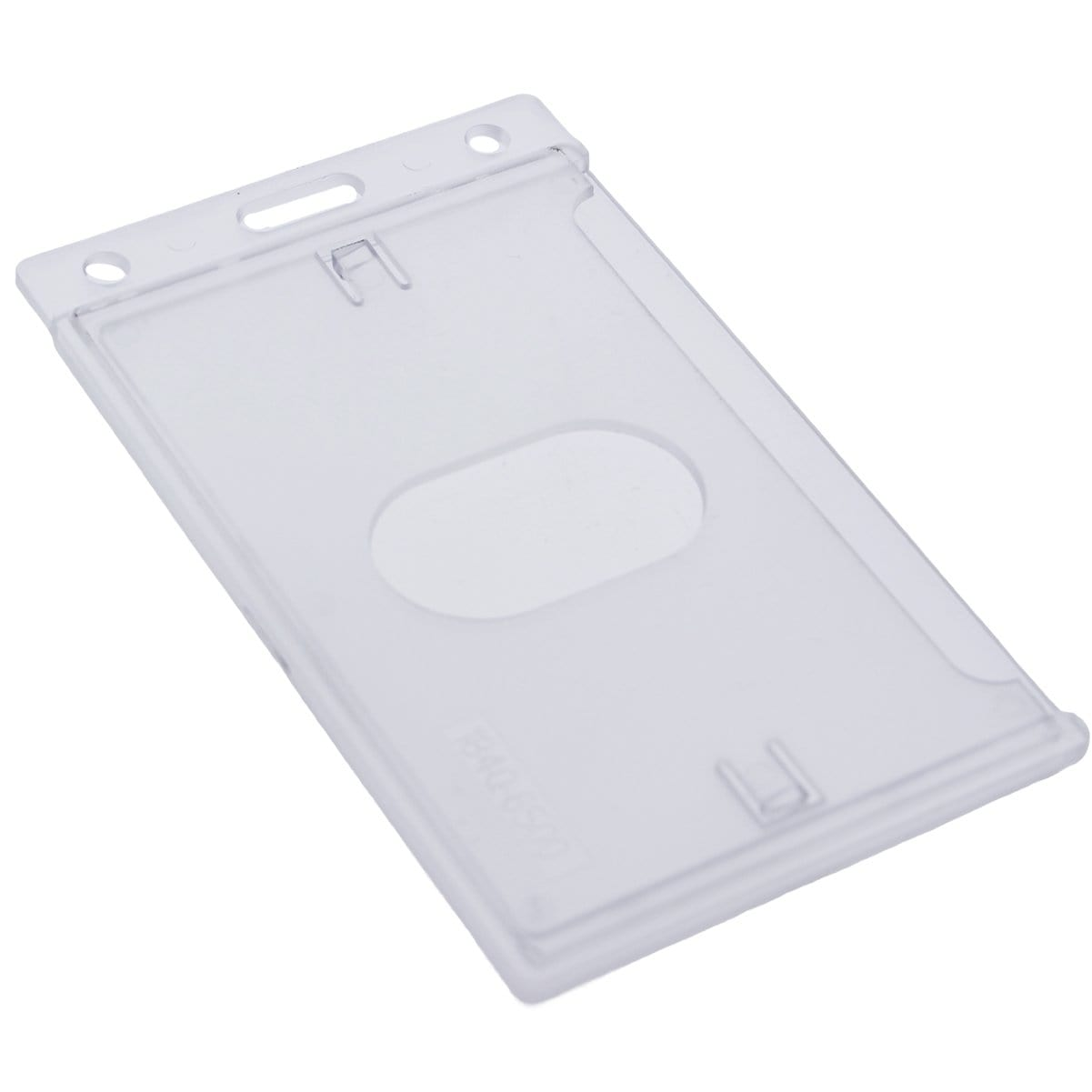 Frosted Vertical Rigid Plastic Card Holder (P/N 1840-6500)